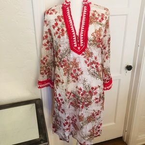 Tory Burch Floral Tunic Dress